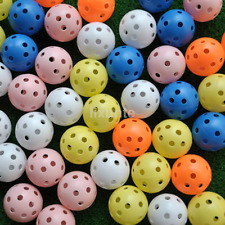 20pcs Hollow Plastic Practice Golf Balls Golf Wiffle Balls Air Flow Balls CA