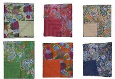 Indian Handmade Kantha Embroidery DOUBLE KING Blanket Throw Bedspread 220x275cm