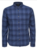 only and sons cooper slim fit long sleeve casual mens check shirt size s-xl bnwt