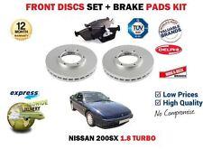 Para Nissan 200SX S13 1.8 Turbo 1991-1994 280 mm Discos Freno Delantero Set + Kit Pad