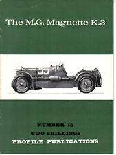 MG Magnette K3 + Mille Miglia Profile Publication No. 15 12 page colour booklet