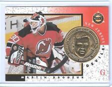 RARE 1997-98 PINNACLE MINT MARTIN BRODEUR GOLD PROOF COIN & CARD #16 ~ 1/100