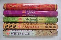 Genuine Hem Indian Incense Stick Set #1: Top 5 x 20 = 100 Sticks Bulk Sampler