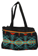 Pendleton Travel Bag Wool Shoulder Purse Aztec Southwest Pattern Inner Pockets