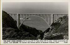 Bixby Creek Bridge Carmel-San Simone Roosevelt Highway CA RPPC Postcard B28
