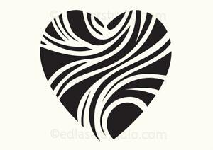 Heart Stencil Love Vintage Paint Wall Furniture Cardmaking Reusable Art A5 HE35