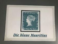 Die blaue Mauritius - Replik einer Legende