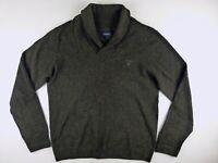 J491 GANT wool blend shawl collar jumper sweater size L, great condition!