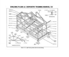Carpentry Training Manual CD with 88 Building Plans