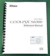 Nikon CoolPix S6300 Instruction Manual: 232 Pages & Protective Covers