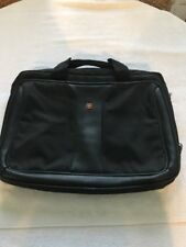 Victorinox Swiss Army Laptop Computer Briefcase/Bag in Black Nylon