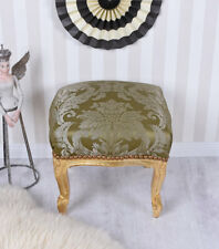 Tabouret Vintage or vert BANC REPOSE-PIEDS baroque