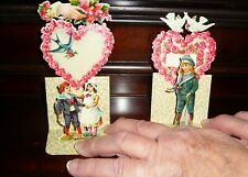 Early Set Of 2 Vintage Valentines * Pop Outs