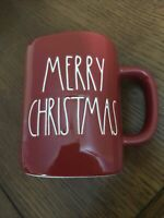 "Rae Dunn ""MERRY CHRISTMAS"" Holiday Red Mug w/ Large white Letters"