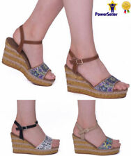 Floral Wedge High (3 to 4 1/4) Heel Height Heels for Women