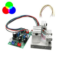 RGB 300mW White Laser Module 638nm+520nm+450nm TTL Driver Modulation Pure Diode