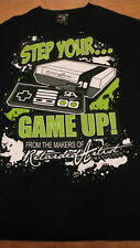 Step Your Game Up Play Station Game Cube Game Boy Gamer Large Balck T-shirt