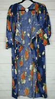 Lularoe Women's Shirley Blue Floral Sheer Kimono Size M NWT