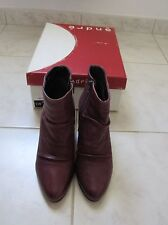 Bottines boots André pointure 36 cuir violet comme neuves Val.119€