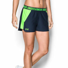 Under Armour UA HeatGear Navy Blue Gym Sports Play Up 2.0 Ladies Running Shorts