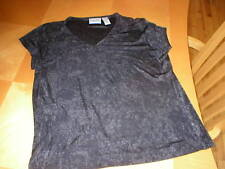 Chico's Travelers sz 2 womens top acetate polyester spandex black EUC