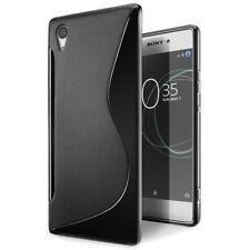 Pour Sony Xperia XA1  Coque en Gel Silicone S-line S-Ligne noir