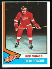 1974-75 OPC O PEE CHEE HOCKEY #19 RED BERENSON NM DETROIT RED WINGS CARD