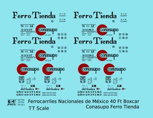 K4 TT Decals Nacionales De Mexico NDEM 40 Ft Boxcar Conasupo Ferro Tienda