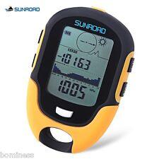 SUNROAD Orange Outdoor Multifunctional LCD Digital Compass Barometer Altimeter