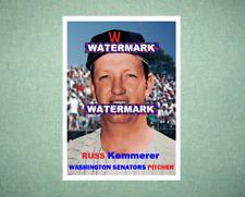 Russ Kemmerer Washington Senators 1957 Style Custom Baseball Art Card