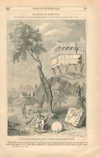 La Fuite en Egypte & Tête de Saint Gérard Tableau de Pierre Puget GRAVURE 1849