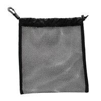 Portable 20x24cm Drawstring Mesh Equipment Bag for Sports Gear, Balls, SMBs