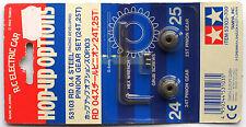 """Tamiya 1/10 RD 0,4 Steel Pinion Gear Set 24T & 25T (Ritzel) """"NEW"""" 53103"""