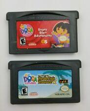Lot of 2 Dora the Explorer Nintendo GBA Gameboy Advance Games NickJr Nickelodeon