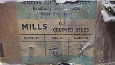 """50 x 1/4"""" x 3/16"""" GROOVED STUDS PINS ROUND HEAD RIVET NOS EXORS OF JAMES MILLS"""