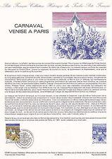 Document Philatélique Timbre 1er Jour : 11/02/ 1986 - Carnaval Venise à Paris