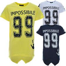 Markenlose Jungen-T-Shirts & -Polos mit Rundhals-Ausschnitt in Größe 128