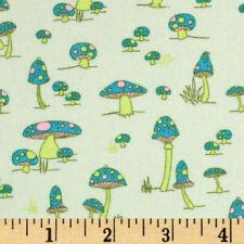 1YD Woodland Wonderland MUSHROOM FRIENDS Toadstools Shrooms JY08 Green Fungi