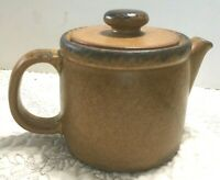 McCoy Stone Ware Tea Pot Brown Drip Made USA Pottery Vintage
