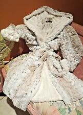 KVH by Kelly Van Halen Lynx/Ivory Mink Faux Fur Luxury Women's Sm/Med Robe