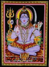 Lord Shiva Indian Wall Hanging Poster Bohemian Tapestry Cotton Ethnic Yoga Mat