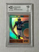 NYHEIM HINES 2018 Playoff Rookie Wave RC REFRACTOR GOLD SP! BCCG GEM MINT 10!