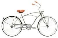"Micargi Cougar GTS, Chrome Men's 26"" Beach Cruiser Bike Limited Edition NEW"