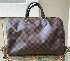 LOUIS VUITTON Damier EBENE SPEEDY 35 w/Lock 100% Authentic See Pictures !!