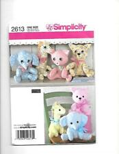 Simplicity Two Pattern Piece Animals  Elephant, Giraffe, Pig, Cat 2613
