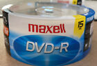 15pk Maxell DVD-R 4.7GB Write-Once 16x Recordable Disc SINGLE LAYER 120 Min