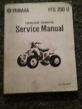 Yamaha YFS 200 U Blaster 1988 Repair Service Manual LIT-11616-06-41 ORIGINAL