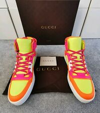 100% Authentic Gucci Rare Neon Hi Top Trainers New In Box 39.5 UK 6.5 cost £625