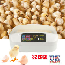Farm 32 Egg Incubator Poultry Automatic Turning Hatcher Thermometer Humidity