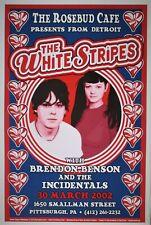 White Stripes | The Rosebud Cafe Pittsburgh | Art: Dennis Loren Orig 2002 Poster